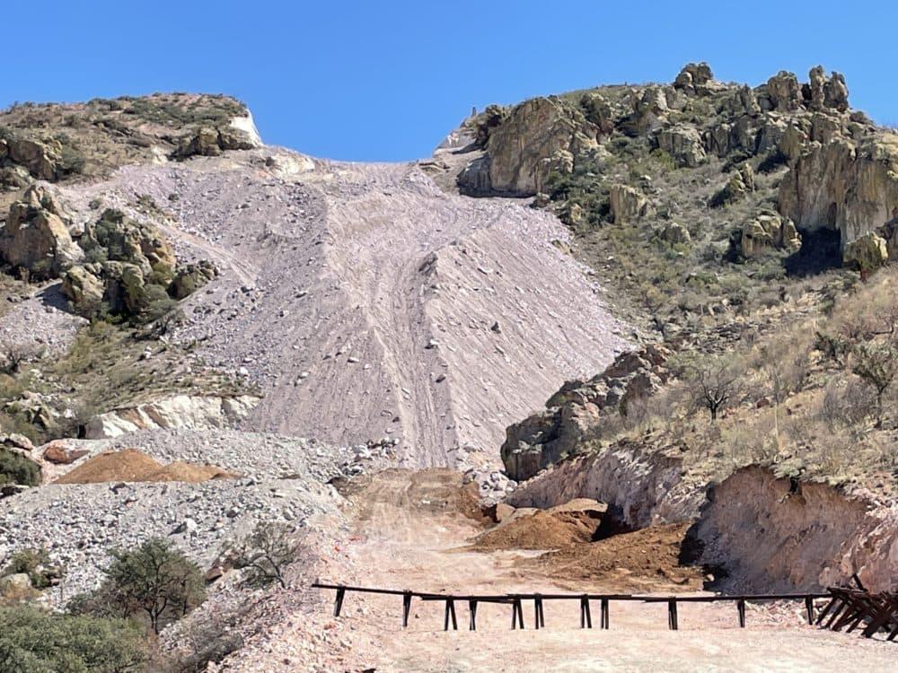 The blown-up mountain top in Arizona's Buenos Aires National Wildlife Refuge. (Myles Traphagen/Wildlands Network)