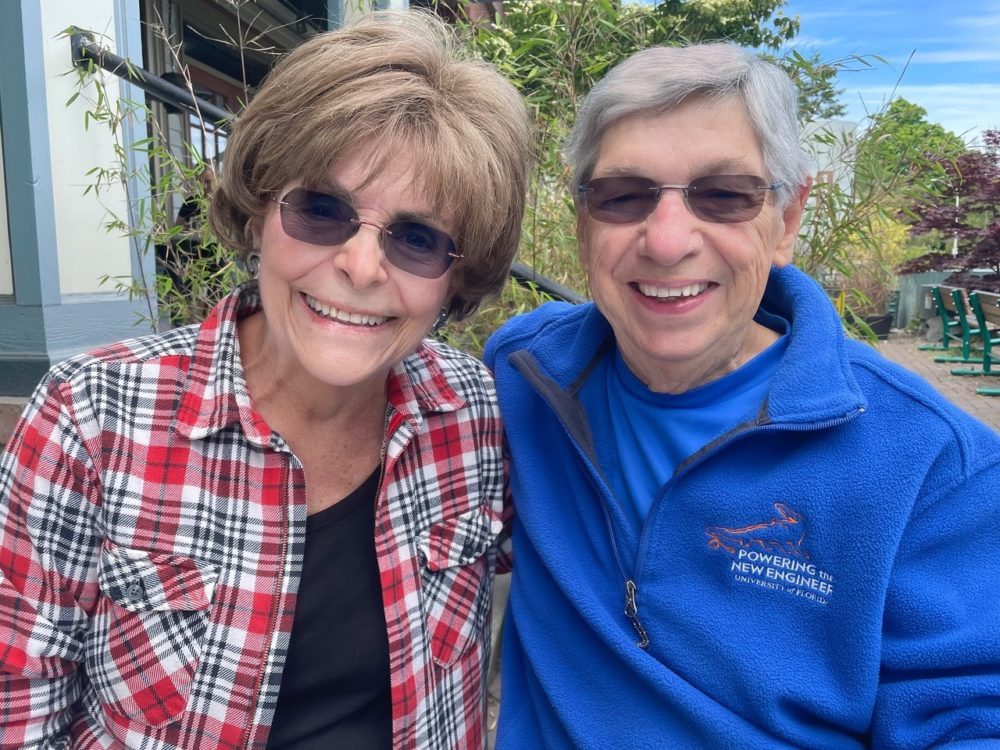 Bladder cancer patient Bonnie Miller and her husband Bob Miller. Bonnie Miller used the ctDNA test to monitor her treatment. (Courtesy)