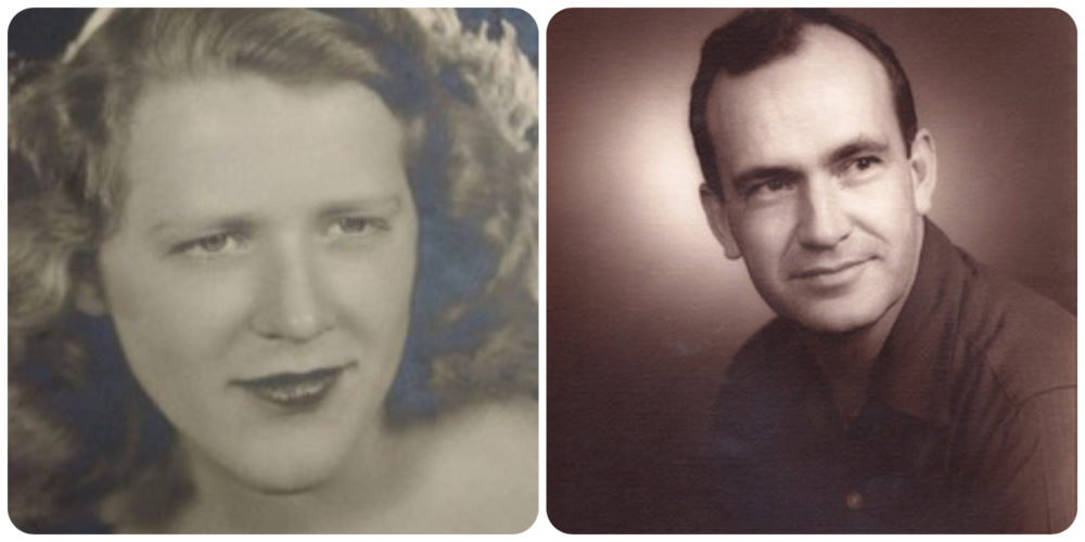 The author's mother, Dr. Sue Johnson, age 16, and her father, Alsey Johnson. (Courtesy)