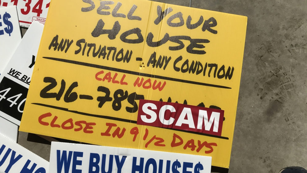 Signs asking homeowners to sell their houses have proliferated amid strong demand and weak supply in the real estate market. (Justin Glanville /ideastream)