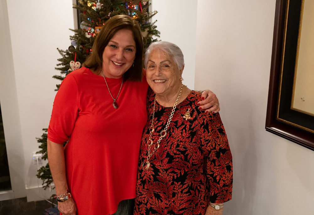 Pablo Rodriguez's 88-year-old grandmother Elena Chavez (right) and 64-year-old mother Elena Blasser are both still missing after the condo building collapse in Surfside, Florida. (Courtesy)