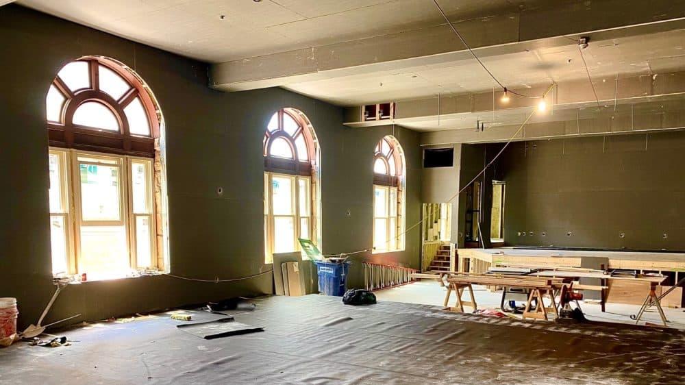 The second floor of the Somerville Theatre is under renovation to restore it's original ballroom. (Courtesy Ian Judge)