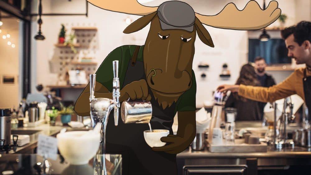 """(""""Moose Barista"""" by Shaun Fawson)"""