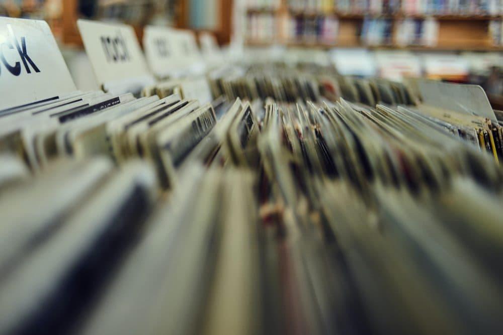 Records in a store. (Valentino Funghi/Unsplash)