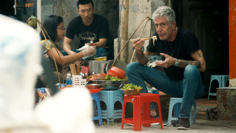 """Anthony Bourdain in a still from the documentary """"Roadrunner."""" (Courtesy CNN/Focus Features)"""