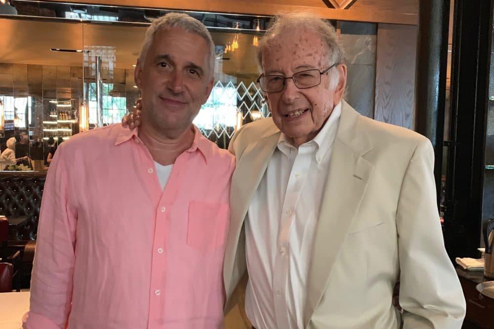 Stuart Roseman with his father, David Roseman, at the elder Roseman's 90th birthday party in July 2019. (Courtesy Stuart Roseman)