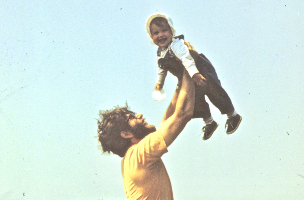 The author and her father are pictured on a hiking trip in 1975. (Courtesy Jane Roper)