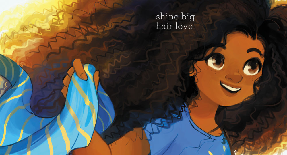 """A page from """"Curls"""" (Illustration by Geneva Bowers)"""
