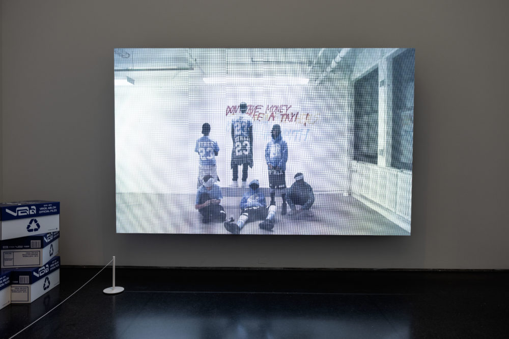 """Virgil Abloh, """"A team without sport,"""" 2012. (Courtesy of the Gymnastics Art Institute)"""