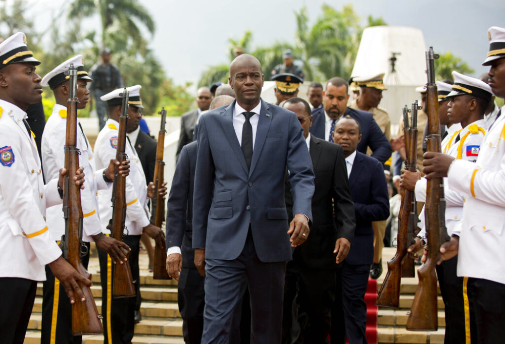 In this April 2018 file photo, Haiti's President Jovenel Moise at the National Pantheon museum in Port-au-Prince, Haiti. Moïse was assassinated after a group of unidentified people attacked his private residence. (Dieu Nalio Chery/AP)