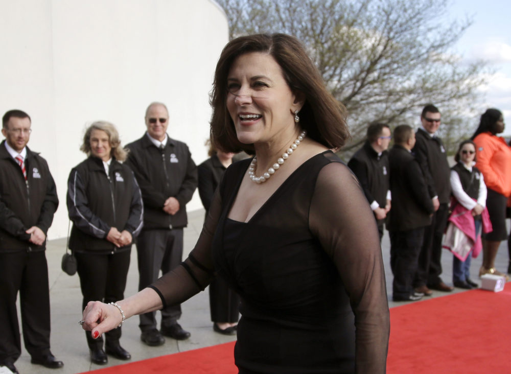 In this May 7, 2017 file photo, Victoria Reggie Kennedy, widow of Sen. Edward M. Kennedy, arrives at the John F. Kennedy Presidential Library and Museum before the 2017 Profile in Courage award ceremonies. (Steven Senne/AP File)