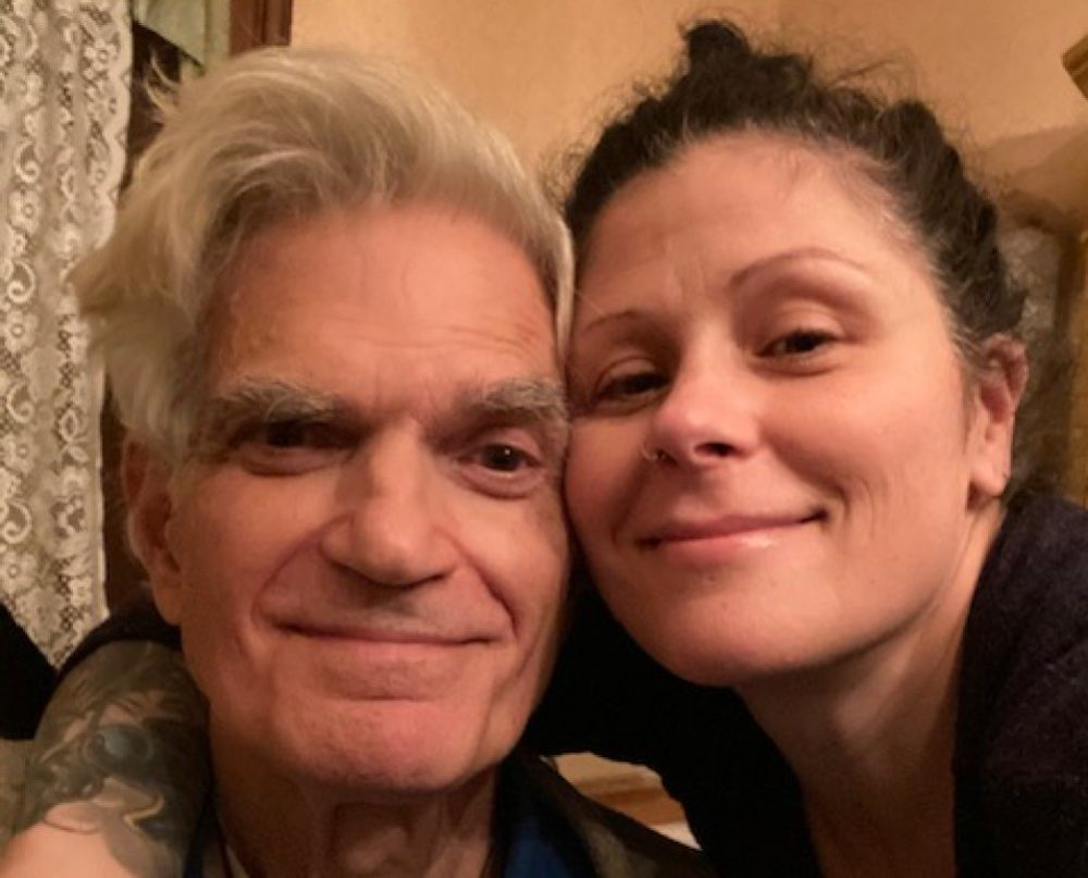 A recent photo of the author and her father. (Courtesy Aimee Christian)
