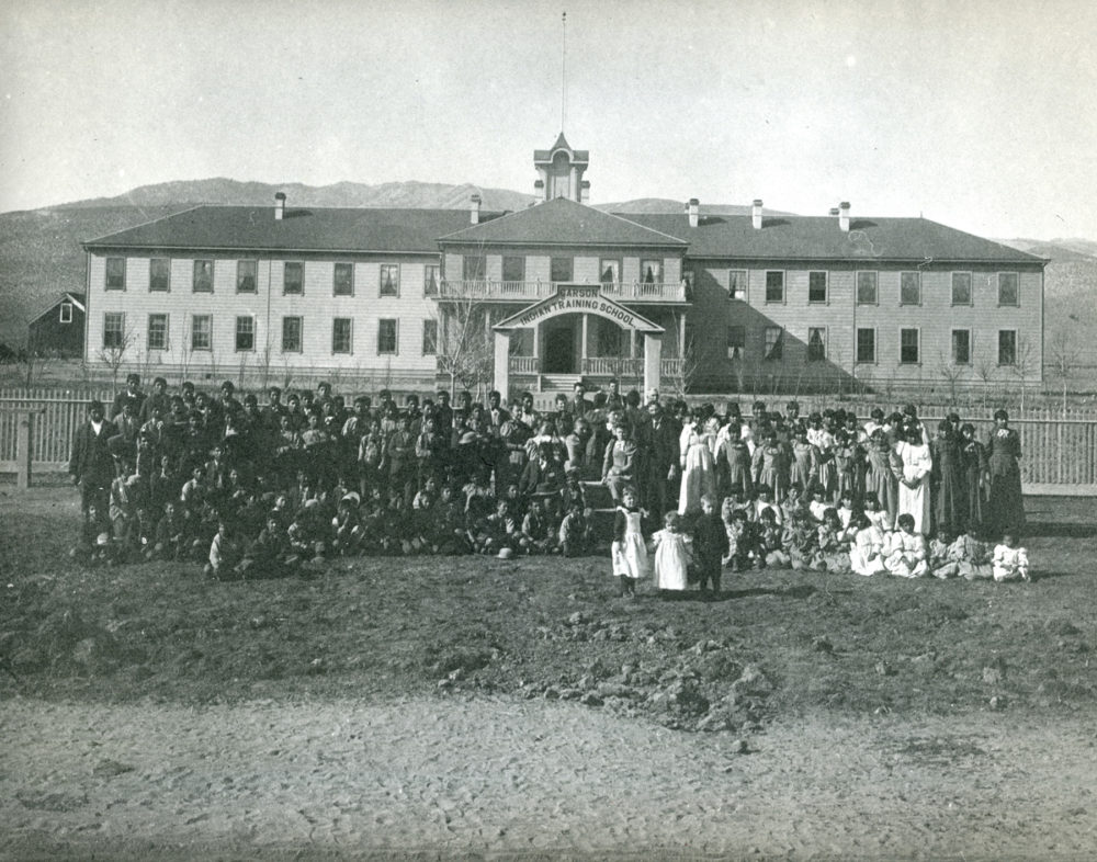 An early picture of Stewart Indian School. The school is now a museum. (Courtesy of Stewart Indian School)