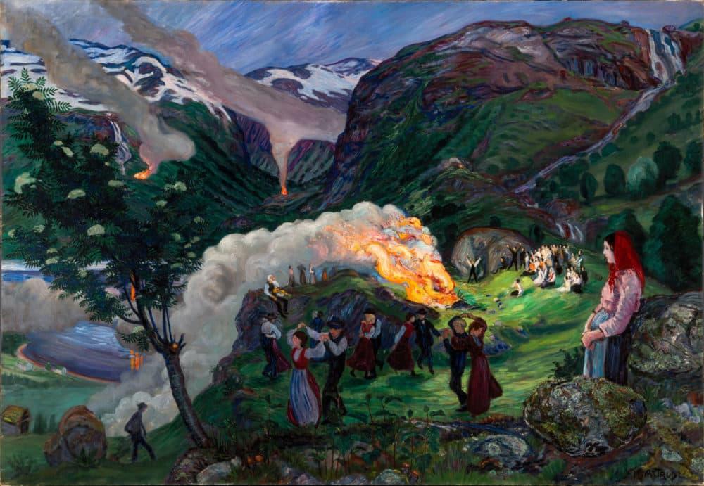 "Nikolai Astrup's ""Midsummer's Eve Bonfire."" (Courtesy Clark Art Institute)"