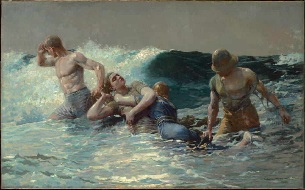 "Winslow Homer's ""Undertow."" (Courtesy Clark Art Institute)"