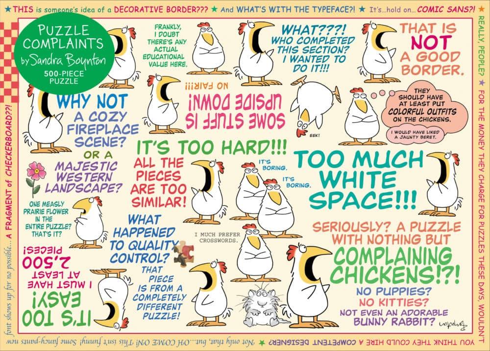 Sandra Boynton: Puzzle Complaints 500-Piece Puzzle. (Courtesy of Workman Publishing)