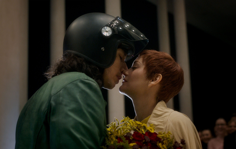 "Adam Driver and Marion Cotillard in ""Annette."" (Courtesy Amazon Sutdios)"