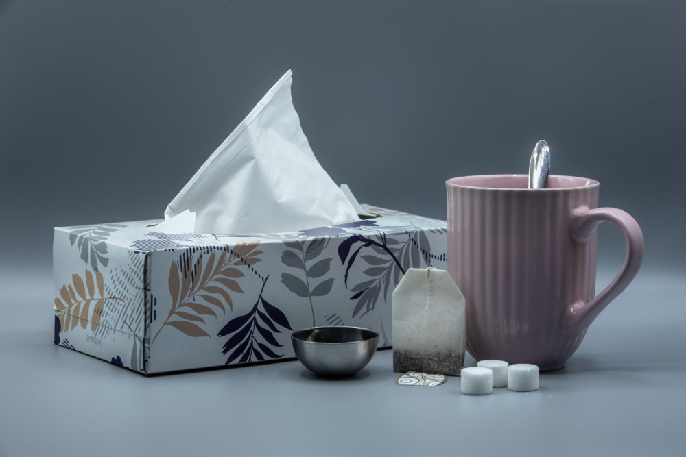 Essentials for coming down with a cold. (Getty Images)