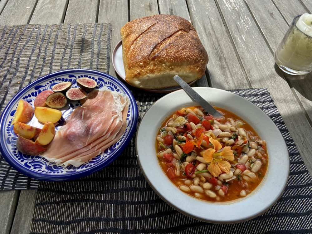White Beans With Tomatoes, Peppers And Summer Herbs (Kathy Gunst)
