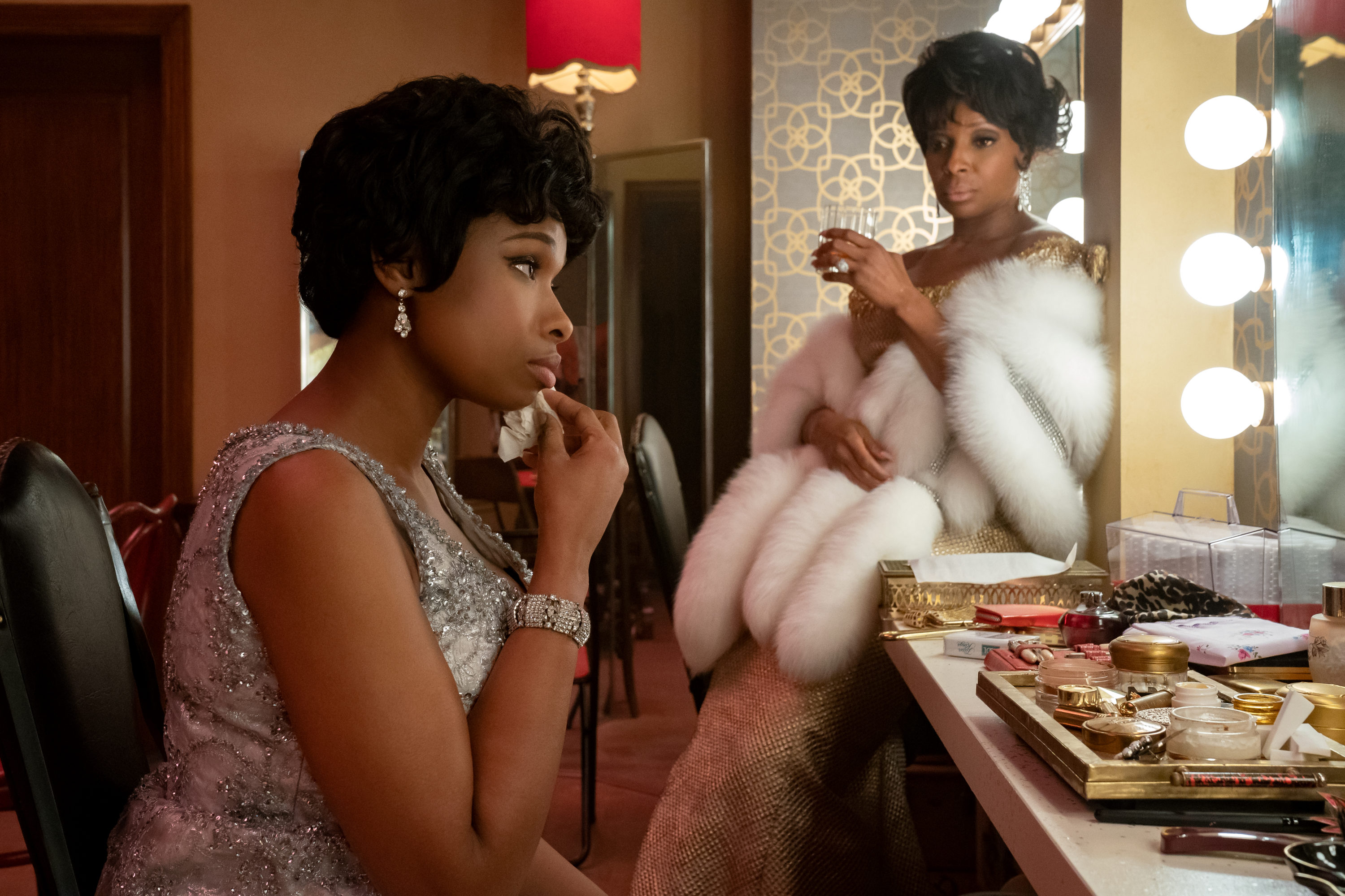"""Jennifer Hudson stars as Aretha Franklin and Mary J. Blige as Dinah Washington in """"Respect."""" (Courtesy Quantrell D. Colbert/MGM)"""