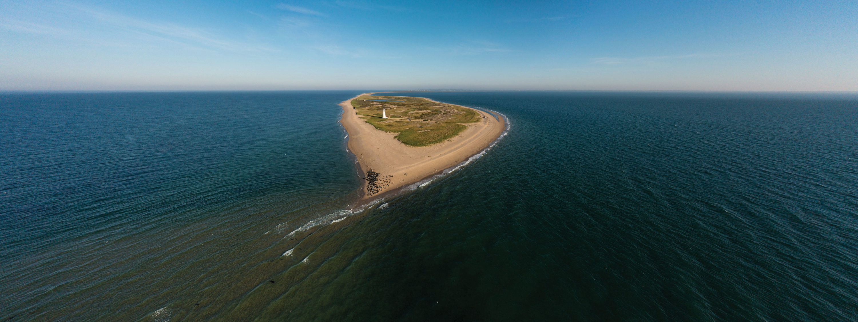 The end of Coskata-Coatue Wildlife Refuge, offshore from the Great Point Lighthouse. Courtesy Above Summit/The Trustees of Reservations