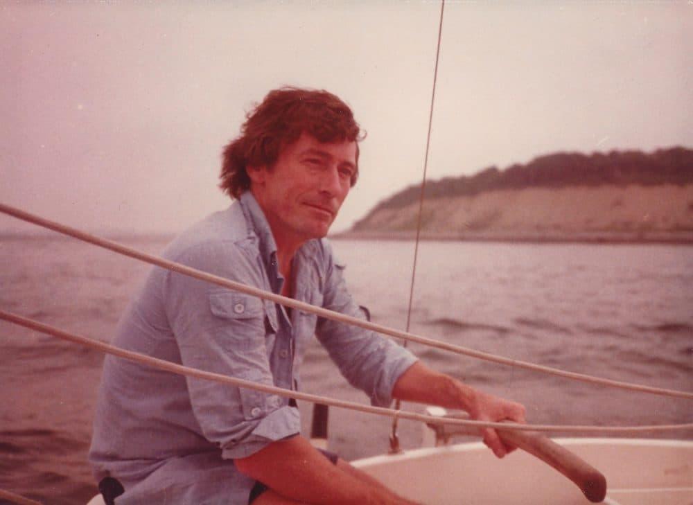 Jack Thomas on his sailboat, The Butterfly (Courtesy Geri Denterlein)