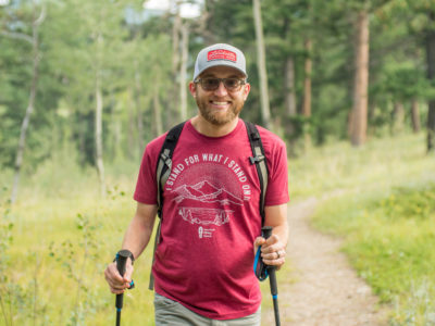 Wesley Trimble of the American Hiking Society on a hike. (Courtesy of Wesley Trimble)