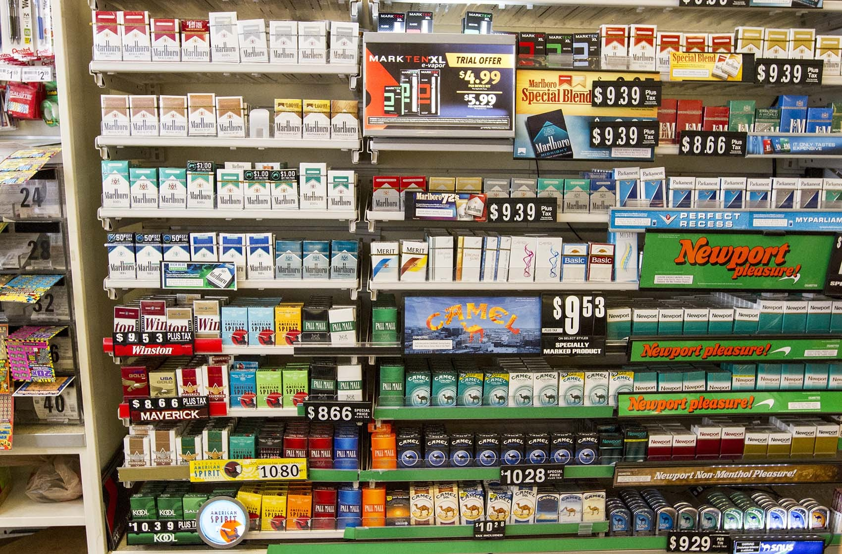 Tobacco products photographed in 2016. (Joe Difazio for WBUR)