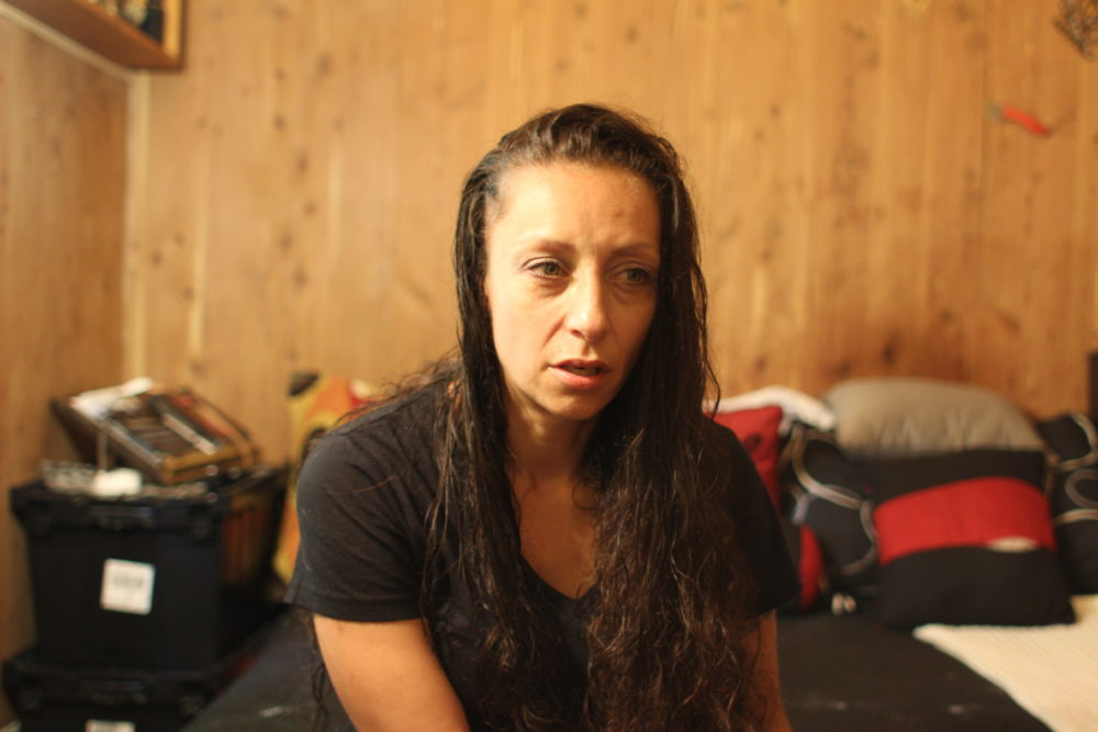 Jessica Sousa tried to use the federal moratorium to stop her eviction but was unsuccessful. (Ben Berke/The Public's Radio)