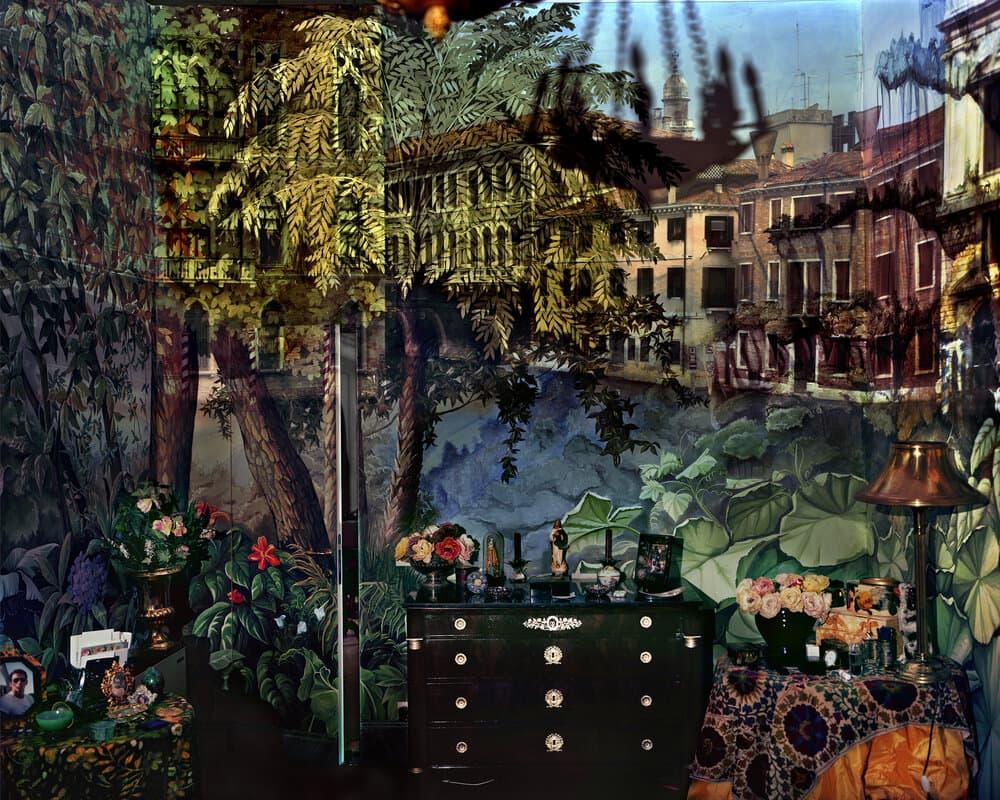 "Abelardo Morell, ""Camera Obscura: Palazzo Jungle Room,"" 2008. (Courtesy Fitchburg Art Museum)"