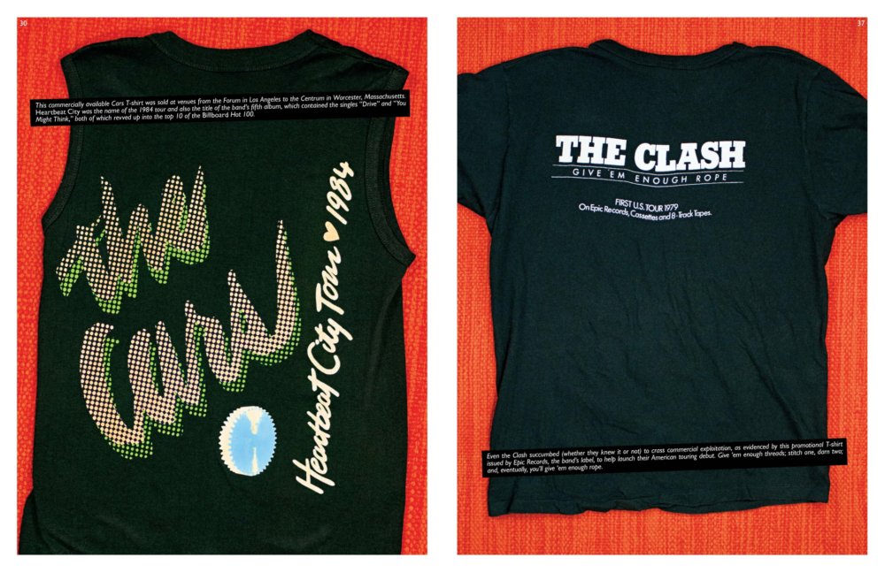 """The Cars and The Clash shirts from """"Off Our Backs."""" (Courtesy)"""