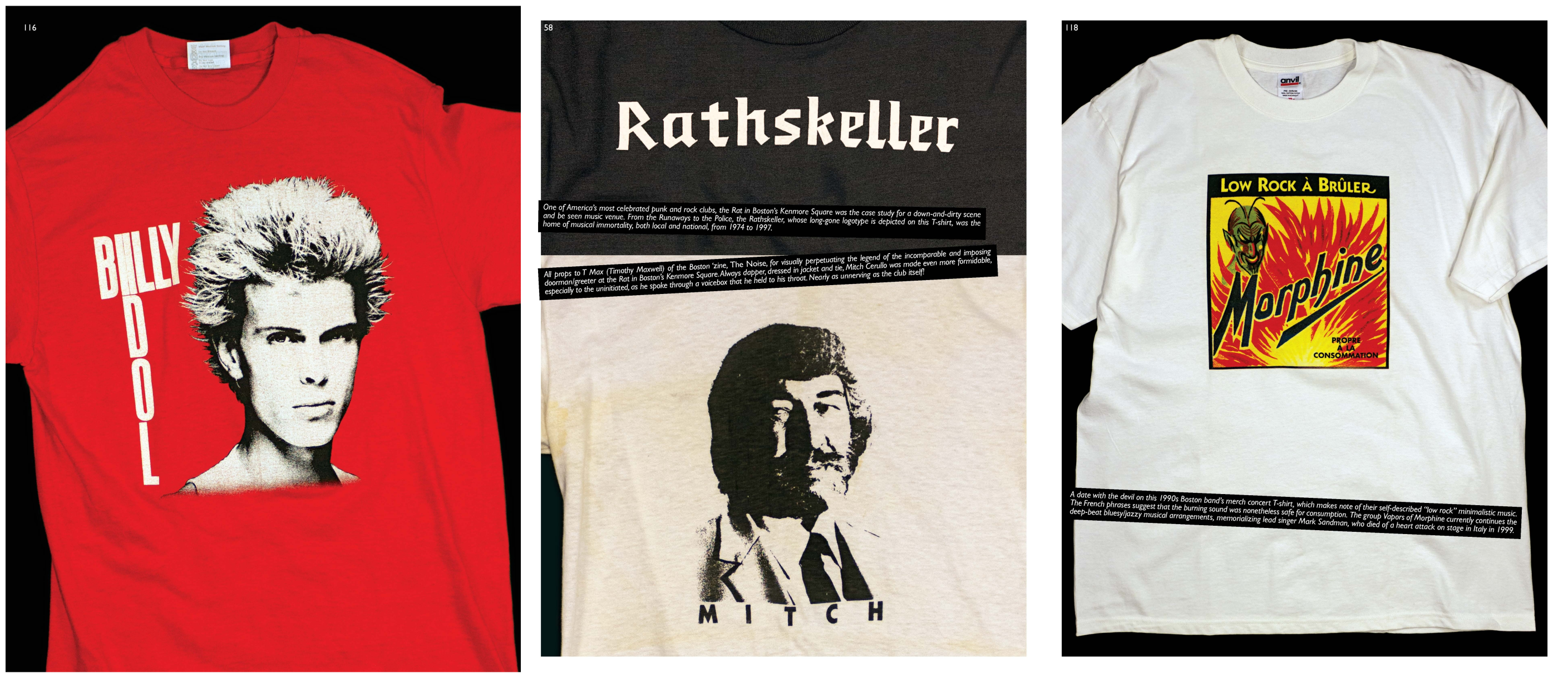 """T-shirts featured in the curated book """"Off Our Backs."""" (Courtesy)"""