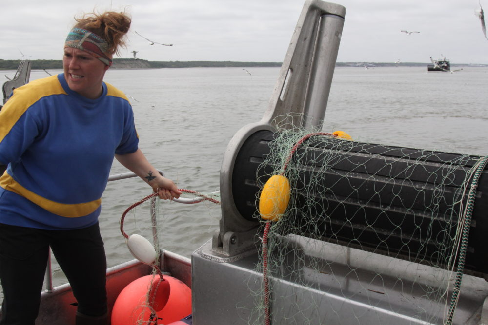 Georgie Heaverley has resisted fishing Bristol Bay for a while. But after deckhanding on the Nedra E this summer, she's considering buying her own permit there. (Sabine Poux/KDLL)
