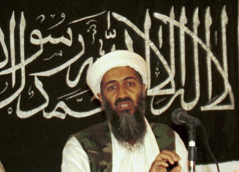 In this 1998 file photo made available on March 19, 2004, Osama bin Laden is seen at a news conference in Khost, Afghanistan. (Mazhar Ali Khan/AP)