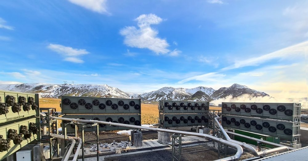 """""""Orca,"""" Climeworks' newest plant in Iceland, will capture 4,000 tons of carbon dioxide per year with support from Accenture (Climeworks via AP)"""