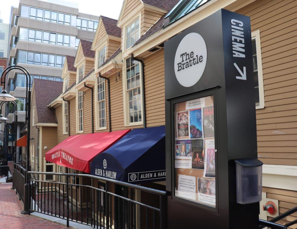 The Brattle Theatre's marquee. (Courtesy Brattle Film Foundation)