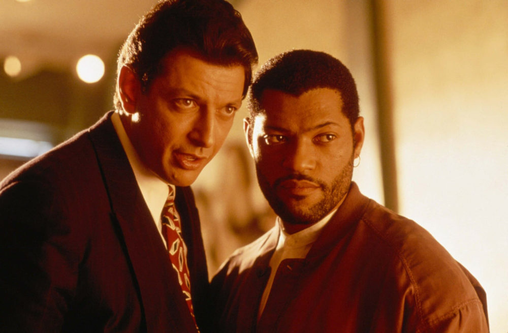 """Jeff Goldblum and Laurence Fishburne in """"Deep coverage."""" (Courtesy of the Brattle Theater)"""