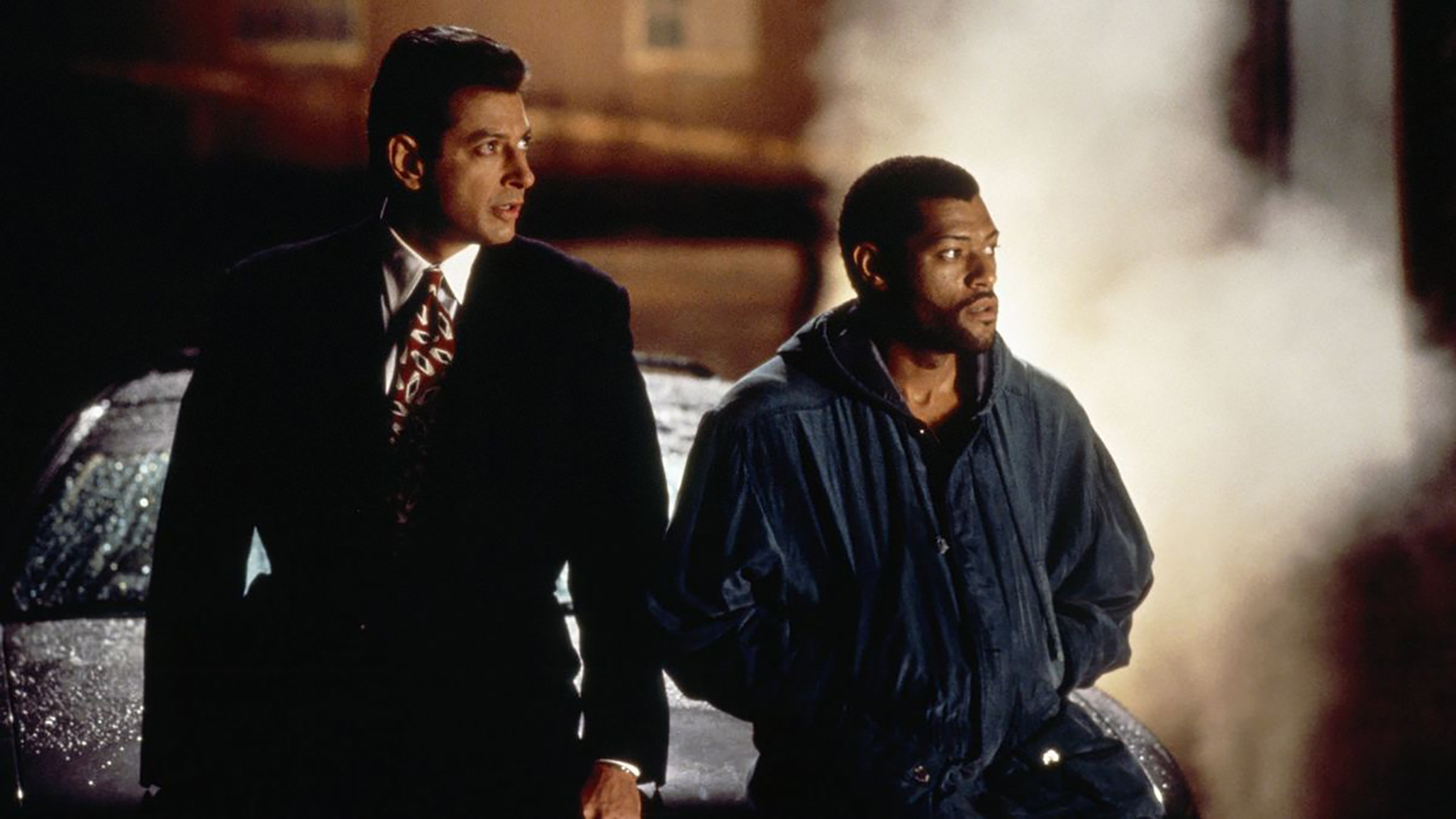"""Jeff Goldblum and Laurence Fishburne in """"Deep Cover."""" (Courtesy Brattle Theatre)"""