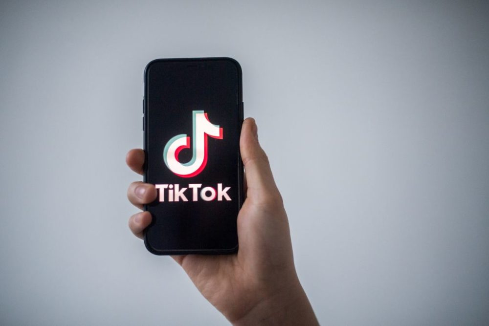The logo of Chinese social network Tik Tok. (Loic Venance/Getty Images)