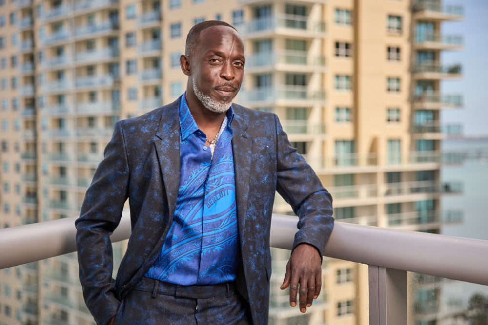 Michael K. Williams is seen in his award show look for the 27th Annual Screen Actors Guild Awards on March 31, 2021 in Miami, Florida. (Rodrigo Varela/Getty Images)