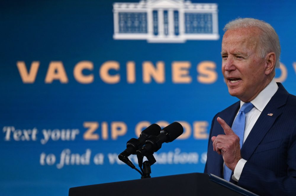 U.S. President Joe Biden delivers remarks on the Covid-19 response and the vaccination program at the White House on August 23, 2021 in Washington,DC. (Jim Watson/Getty Images)