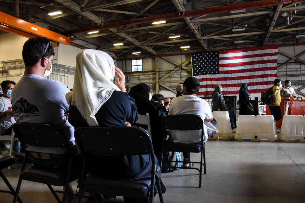 With the Allied Refugee Operation, the U.S. evacuated U.S. citizens, special immigration visa applicants and Afghan refugees from Afghanistan. (Francesco Militello Mirto/NurPhoto/Getty Images)