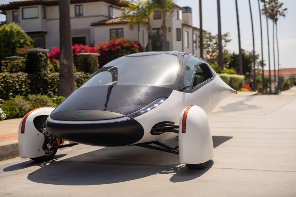 A solar car by Aptera Motors. (Courtesy)