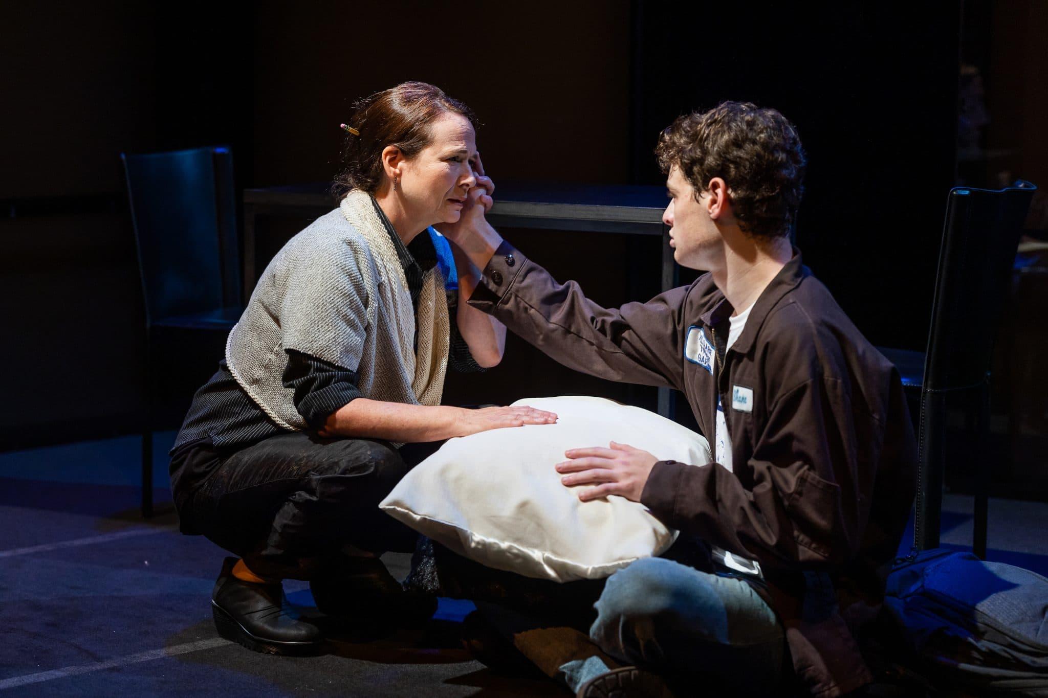 "Jennifer Rohn and Nathan Malin in Adam Rapp's ""The Sound Inside"" at SpeakEasy Stage. (Courtesy Nile Scott Studios)"