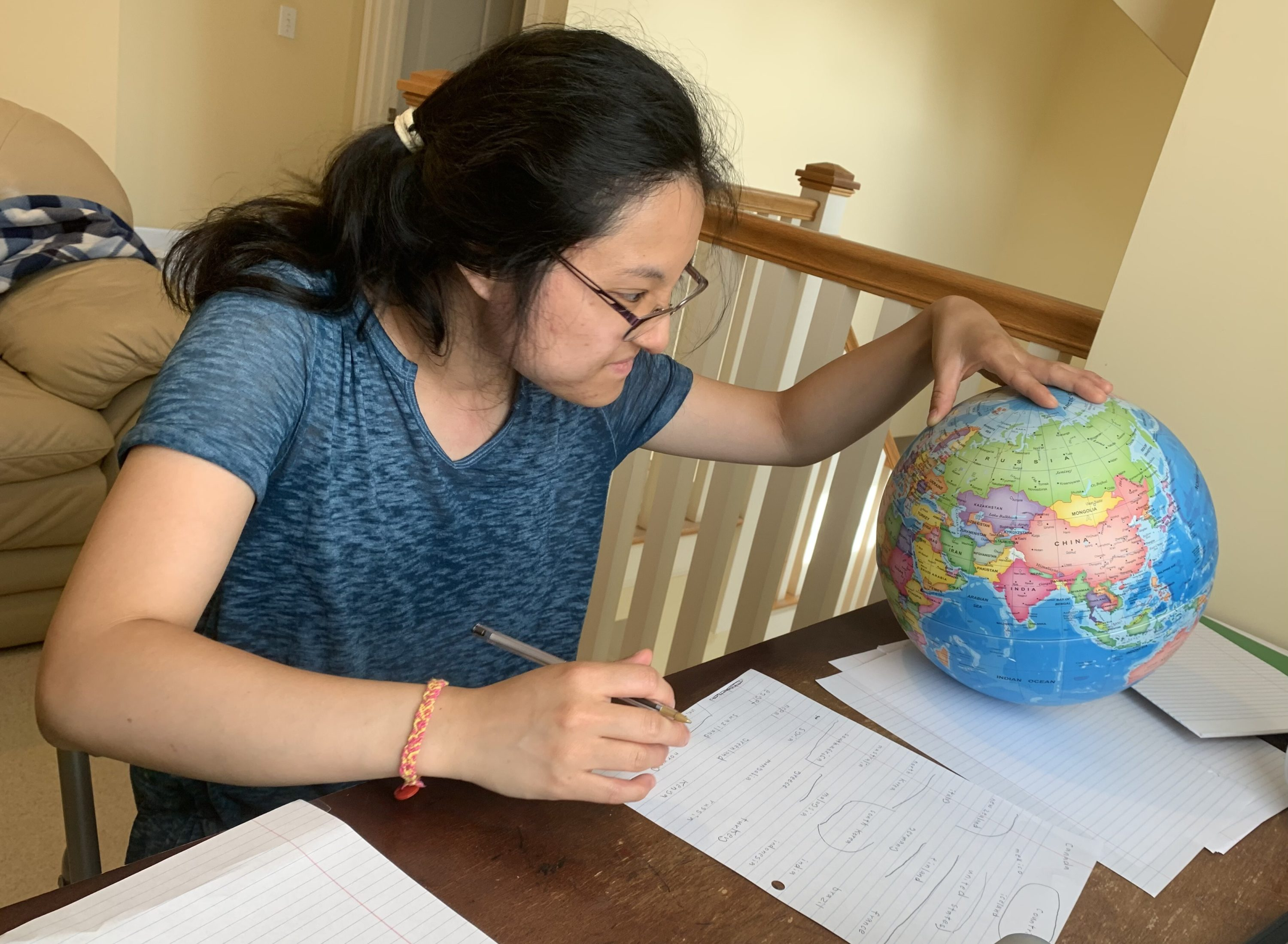 Stephanie Li hopes to take college classes to explore her interests in math and geography. (photo courtesy Katelyn Li)