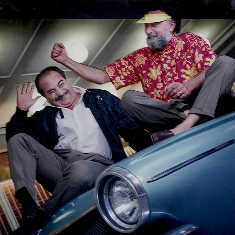 """""""Click and Clack"""" of """"Car Talk."""" Ray, left, and Tom Magliozzi. (Lane Turner/The Boston Globe via Getty Images)"""