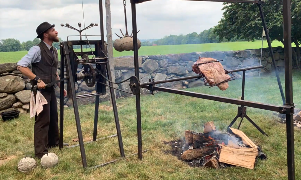 Heirloom Fire's clockwork spit jack (Courtesy of Heirloom Fire)