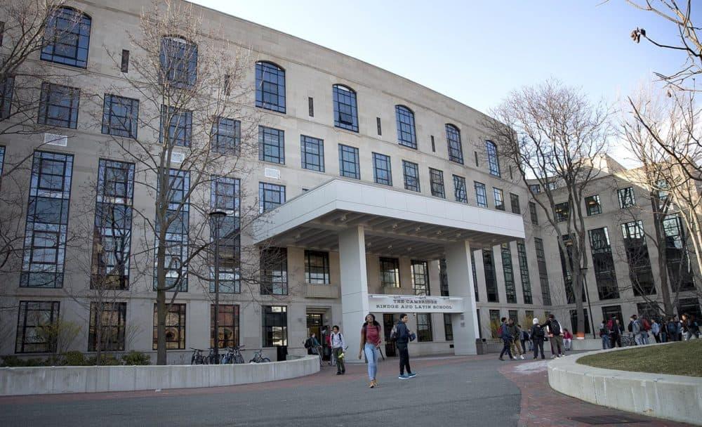 Cambridge Rindge and Latin School, as seen in 2016. (Robin Lubbock/WBUR)