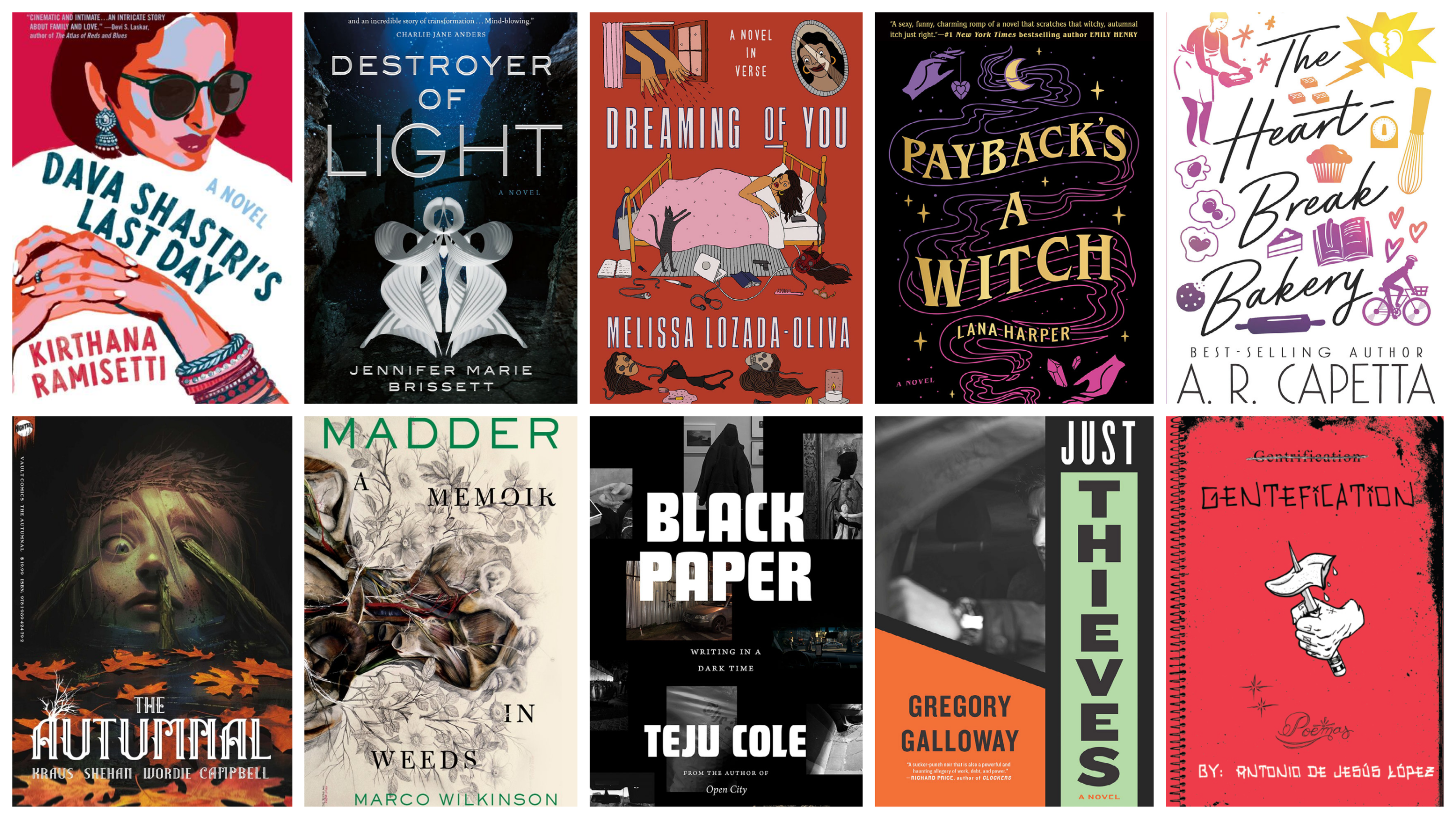 Literature writer Katherine Ouellette selects the 10 books to read this fall. (Courtesy the publishers)