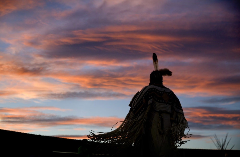 In this July 13, 2018, file photo, a woman performs a traditional Native American dance during the North American Indian Days celebration on the Blackfeet Indian Reservation in Browning, Mont. (David Goldman/AP)